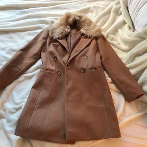 **NEVER WORN** Topshop Camel Coat